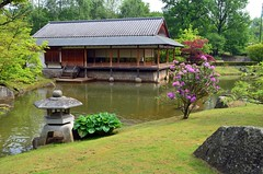 Hasselt Japanese Garden (masimage) Tags: house holland water japan garden japanese waterfall scenery belgium hasselt geisha ryokan samurai tress
