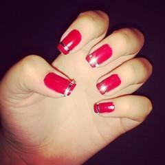 Unha com fita adesiva (Karoline Bione) Tags: blog unhas nailart unha nailat unhadecorada ateliekaroline uhnas