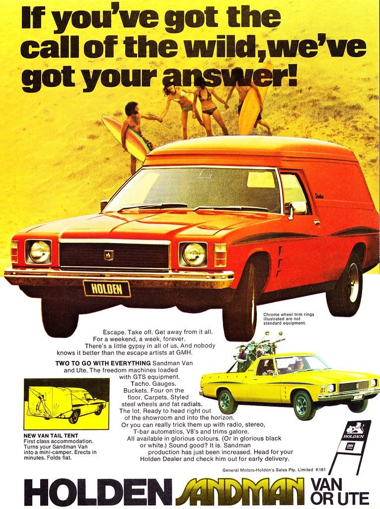 76271a5d25 1975 HJ Holden Sandman Panel Van Aussie Original Magazine Advertisement  (Darren Marlow) Tags