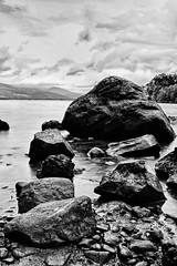 Out and about - Loch Lomand-5 (MMcQuade) Tags: longexposure blackandwhite water rock scotland lochlomand 2013