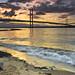 High tide sunset 1 July 2013