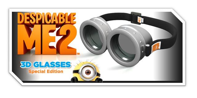 Look3D – 神偷奶爸 2 黃色小小兵 DAVE 3D 眼鏡