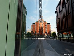 St Paul's Square Reflection (kev thomas21) Tags: england reflection building clouds liverpool bluesky merseyside