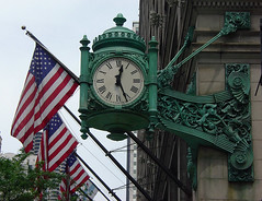 Great Clock (phillytrax) Tags: city urban usa chicago clock america illinois unitedstates ill theloop statestreet marshallfields downtownchicago marshallfieldandcompanybuilding