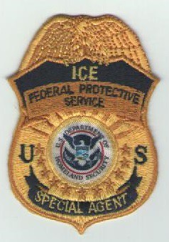 Federal Protective Service Badge Patch (Old Syle ICE Colored)