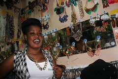 Bridget Achieng in her shop (nextcityorg) Tags: poverty travel kenya nairobi cities urbanism slums developingworld informalsector globalpoverty informaleconomy informality slumdwellers forumforthefuture rockefellerfoundation informalsettlements nextcity inclusivecities informalcitydialogues nextcityorginformalcity