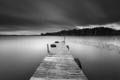 Centered jetty (- David Olsson -) Tags: longexposure sunset blackandwhite bw lake reed water monochrome clouds silver landscape mono evening pier wooden nikon cloudy sweden outdoor jetty tires le late silvery grayscale fx centered vr vänern d800 hammarö brygga värmland 1635 ndfilter blackglass 1635mm lakescape smoothwater smoothsky lenr davidolsson nd500 lightcraftworkshop 1635vr västraskagene