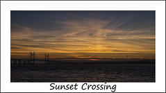 Sunset Crossing (ORIONSM) Tags: sunset sky water clouds bristol crossing severn channel pentaxk5