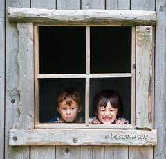 Framed Boys (Rafe Abrook Photography) Tags: window boys kids square box frame isleofwight sons iow blackgangchine blackgang