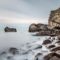 (Attila Pasek) Tags: uk sea seascape rock coast longexposuretime mupebay