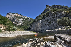 Gorges de l'Ardche (V.Rog) Tags: water river eau kayak riviere canyon canoe