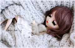 Cozy... (pure_embers) Tags: uk red brown colour cute girl cozy eyes doll dolls sweet sleep stock sadie lips planning wig blanket cuddle modified pullip luts pure jun embers rosy obitsu rosybrown stica pureembers