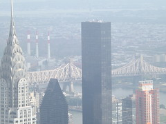 Aerial View of Chrysler Building, Queensboro Bridge, As Seen from Empire State Building Observation Deck, New York City (lensepix) Tags: newyorkcity aerialview eastriver empirestatebuilding chryslerbuilding queensborobridge empirestatebuildingobservationdeck aerialviewmanhattan