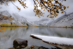 Silence of the Snow (Steve Corey) Tags: california snow fall water northerncalifornia interestingness lakes lakeside explore silence quite snowfall mountians intersting convictlake easternsierranevada stevecorey