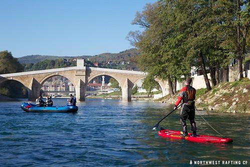 SUP at the Konjic Bridge