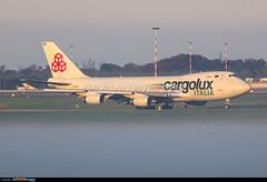 MXP Airport: Boeing 747-4R7F/SCD (Simone Ciaralli - AirTeamImages) Tags: fog airport simone olympus nebbia zuiko cargolux e5 malpensa saimon saimonvolo ciaralli