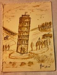 Torre al caffè (erasmodapisa) Tags: torre pisa carta amalfi caffe iphone tiscana erasmo trattorialabuca