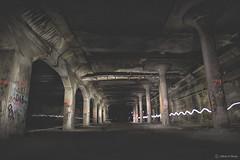(Jeffrey Stroup) Tags: longexposure red ny newyork lightpainting abandoned canon underground subway exploring tunnel rochester urbanexploration paintingwithlight tunnels ue 145 urbex urbanex