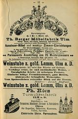 Werbung aus dem Stadtführer für Ulm (altpapiersammler) Tags: ulm vintage alt old schriftdesign lettering werbung werbegrafik advertising berger möbelfarbik