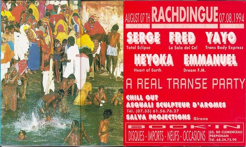 "Patrice Heyoka - Flyer 07/08/1994 - ""A Real Trance Party"" @ El Rachdingue (Catalogne) <a style=""margin-left:10px; font-size:0.8em;"" href=""http://www.flickr.com/photos/110110699@N03/11308063746/"" target=""_blank"">@flickr</a>"