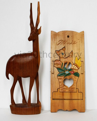 Cute vintage baby deer letter holder