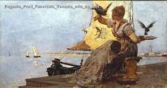 Eugenio Prati Fusettaia Venezia olio su tela
