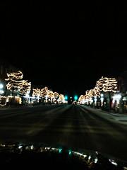 Driving through Tecumseh.. (PepOmint) Tags: christmas trees winter lights holidays pretty michigan christmasday tecumseh christmashappy 2013 tecumsehmichigan m50xmasholidaylightscoldsnowseasonmerry
