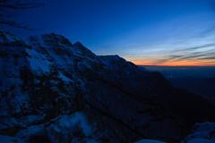il Primo Tramonto dell'Anno (Roveclimb) Tags: mountain dusk montagna generoso mendrisio escursionismo ciaspole ciaspolata imbrunire intelvi calvagione piancaccia tramontohiking