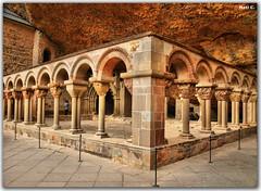 Claustro (Nati C.) Tags: arquitectura hdr piedra claustro sanjuandelapea tufototureto