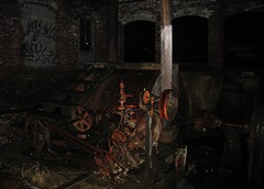 Gears, Pulleys, Chains & Flywheels... (sixty8panther) Tags: old city urban usa building mill abandoned night canon river dark out ma this graffiti canal back chains lawrence big rust industrial factory power time map massachusetts urbandecay flash under certain engine newengland machine rusty structure h2o steam industrialrevolution help hydro generator valley valve historical motor runs exploration gears identify turbine immense merrimack flywheel hydroelectric merrimackriver pulleys driveshaft driven regulator flows waterpower sooc flowofwater