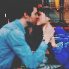 Love in a parisian caf (. ADRIEN .) Tags: paris love caf kiss couple watch romance charlie baiser montre