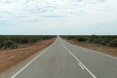 Landscape shot of the North-West Coastal Highway near Hamelin Pool, Wa.