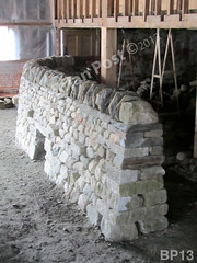 WM Brian Post 13, freestanding wall, cheekend, vertical cope, dry laid stone construction, copyright 2014