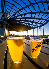 Rye Wit at Freetail Brewing (nan palmero) Tags: sunset beer sanantonio outside outdoors texas unitedstates samsung patio goldenhour picnictable freetail samsungcamera nx30 freetailbrewing mirrorlesscamera beeronapatio imagelogger ditchthedslr