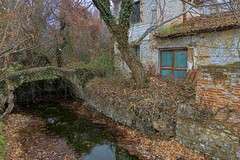 ... (Theophilos) Tags: old house bridge leaves trees nature παλιό σπίτι γέφυρα δέντρα φύλλα δράμα drama