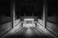 Beneath The City (shutterclick3x) Tags: parking deck blackandwhite bw moody frankloose