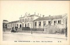 remarquable-CPA-Vitry-sur-Seine-Les-Ecoles-Rue-Eug-Pelletan (gpmetropole) Tags: cpa vitry port à l anglais edf centrale electrique ardoines