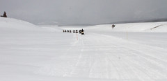 Snowmobilers in Hayden Valley (YellowstoneNPS) Tags: haydenvalley snowmobiling visitors yellowstonenationalpark activities winter