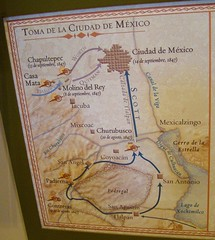 Mexico City / Churubusco - Map of Mexican-American War Campaign - Final Chapter / In the path of Cortez / Wide Loop around Pedregal Lava Field (ramalama_22) Tags: mexico city ciudaddemexico exconvent churbusco interventions museum war invasions pedregal lava flow field impassable unan university calzas tlalpan general winfred scott invasion route hernan cortez