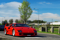 Ferrari F40 (Marcinek_55) Tags: irish festival speed cars coffee limerick ireland supercar sunday black ferrari enzo road eastway plaza white german manual gearbox carbon fibre red pace germany holland assen tt circuit nederland vredestein supercars hypercars hypercar sportcar sportcars exotic exotics photography marcinek55 marcin wojciechowski sony a57 performance 2016 may gespot autogespot swedish outdoor sport auto racing race car vehicle f40 ferrarif40 supercarsunday autoracing