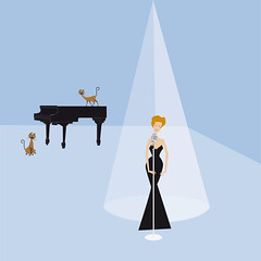 6._Peggy_Lee _- _The_Siamese_Cat_Song (Mercedes CAMACHO) Tags: piano music musica musique teclas musicnote notamusical illustration ilustración life vida musicillustration