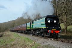 34081 Northwood Lane 26/03/2017 (Brad Joyce 37) Tags: 34081 svr steam severnvalleyrailway northwoodlane train preserved passenger