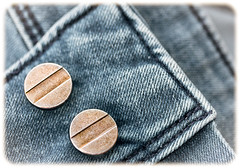Faded Denim (Daniela 59) Tags: macro macromondays clothtextile textures denim faded jeans buttons metalbuttons 100x2017 100xthe2017edition theworldaroundme image28100 danielaruppel
