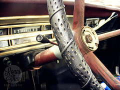 Pick Up Truck (RonniShae) Tags: photography truck red pickup counrty missouri old vintage leather wheel radio horn