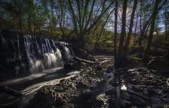 Entre luces y sombras (invesado) Tags: luces sombras san agustín guadalix cascada sol arboles agua sedas nikon7100