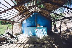 Blue faith (dataichi) Tags: mexico baja california sur travel tourism destination outdoors house shack faith church shade blue perspective