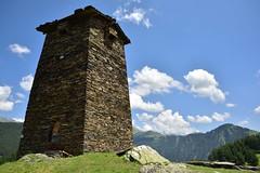 Tower at Keselo (orientalizing) Tags: acropolis architecture caucases georgia keselo landscape omalo towerhouses tusheti upperomalo