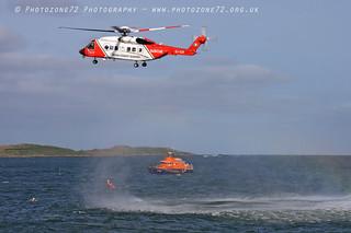 Irish Coastguard S92 & RNLI Lifeboard SAR role demo