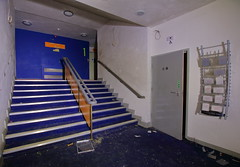 Harlow ODEON14 (Landie_Man) Tags: harlow odeon cinema london south east picturehouse picture house oscar deutsch disused derelict closed shut shame sad film movie tv theatre flicks moving pictures urbex photos abandoned laid up finished flling down dalling falling platters projectors cake stands retail box office pay seats food snacks tickets