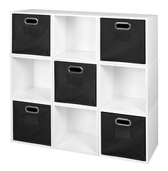 PC9PKWH_HTOTEBK (RegencyOfficeFurniture) Tags: niche regency cubo cubestorage modularstorage modular connecting connectable adaptable custom customizable cube square storageset closet organizer organization furniture cubes expandable home melamine laminate woodtone white whitewoodgrain pc9pk pc1211wh black blackstorage blacktotes blackbins htotebk